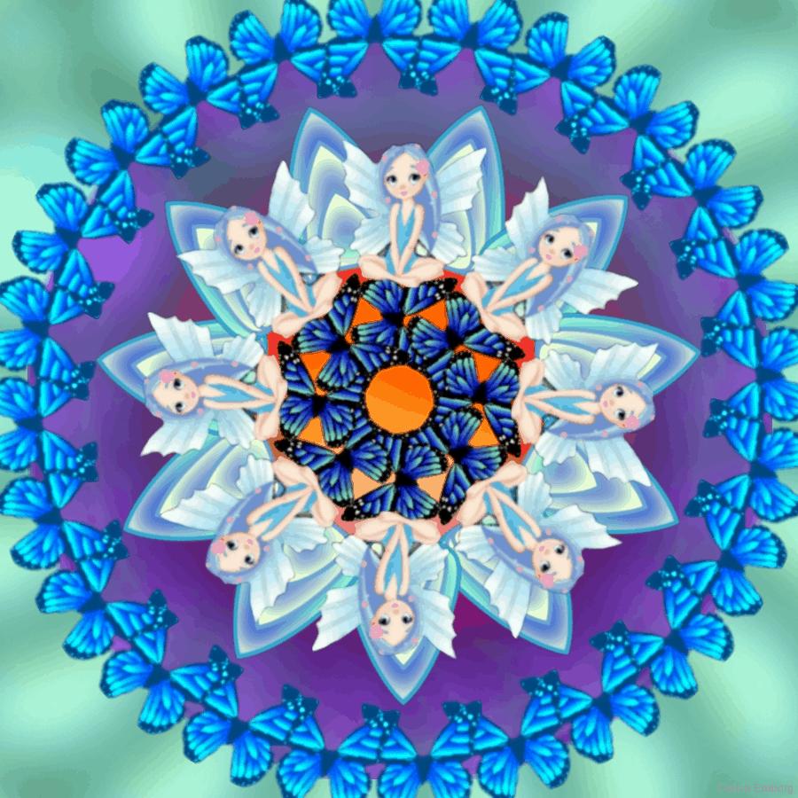 hada azul mandala