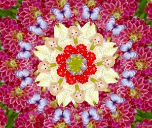 Mandala con hadas - Celina Emborg -