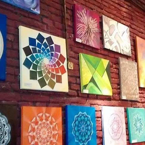 Pinturas En Bastidores Faciles Cuadro Mural Abstractos Xcm Modernos - Pinturas-de-mandalas
