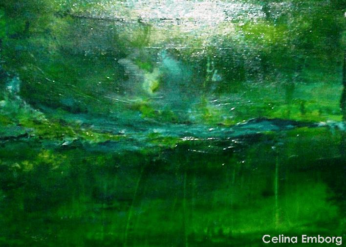 abstracto en verde - Celina Emborg
