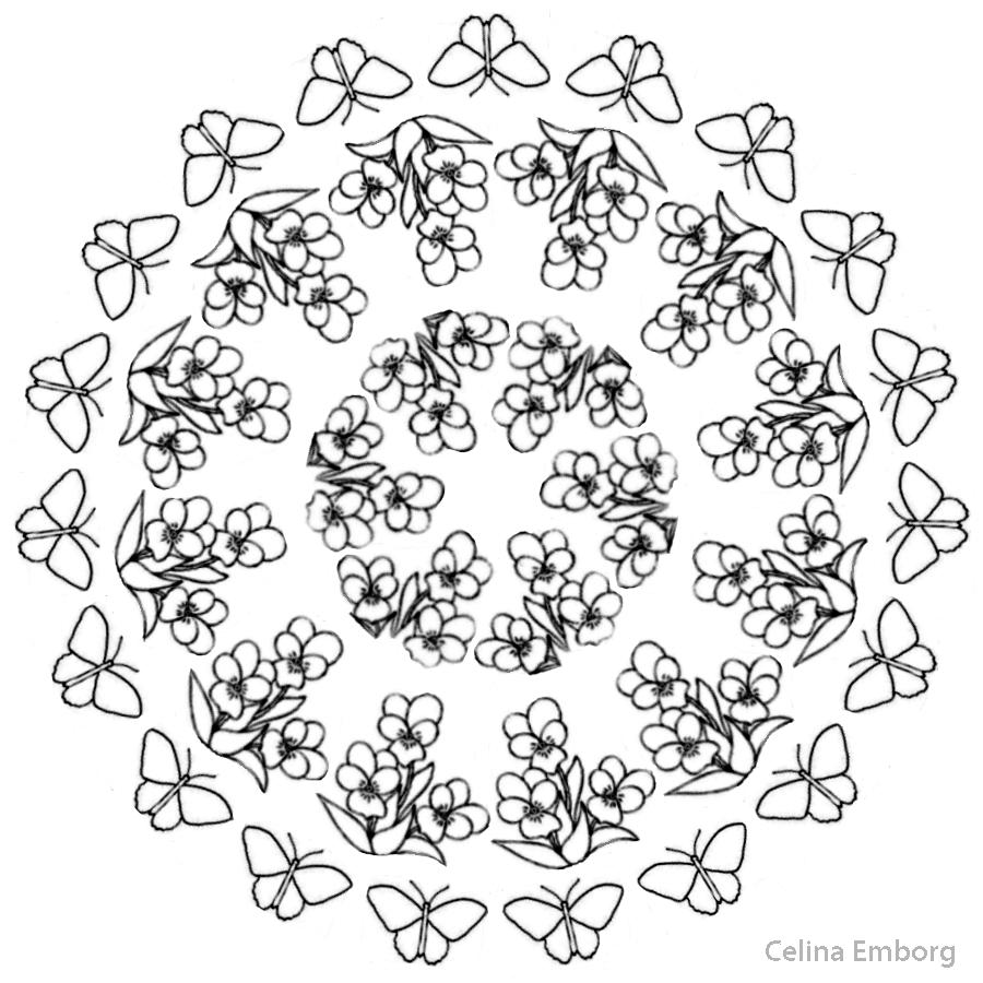 Mandala primavera con flores