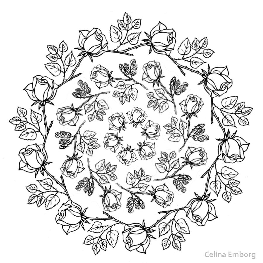 Mandalas con flores - Celina Emborg