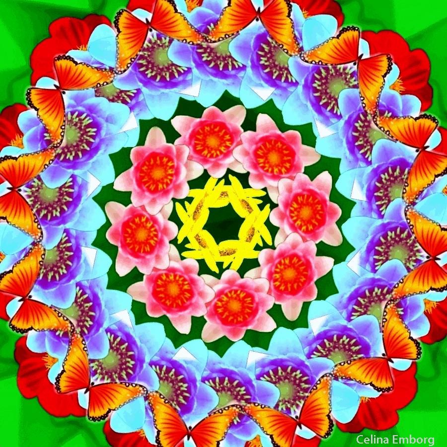 Mandalas De Flores Para Imprimir on Imagenes De Navidad Para Colorear