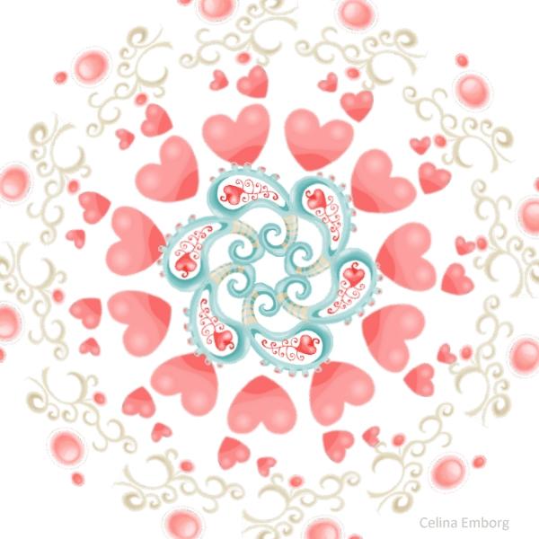 Mandala corazones