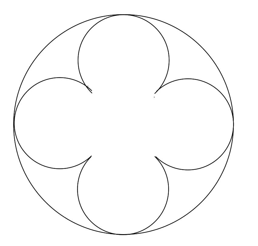 Flor De 4 Petalos Dibujo