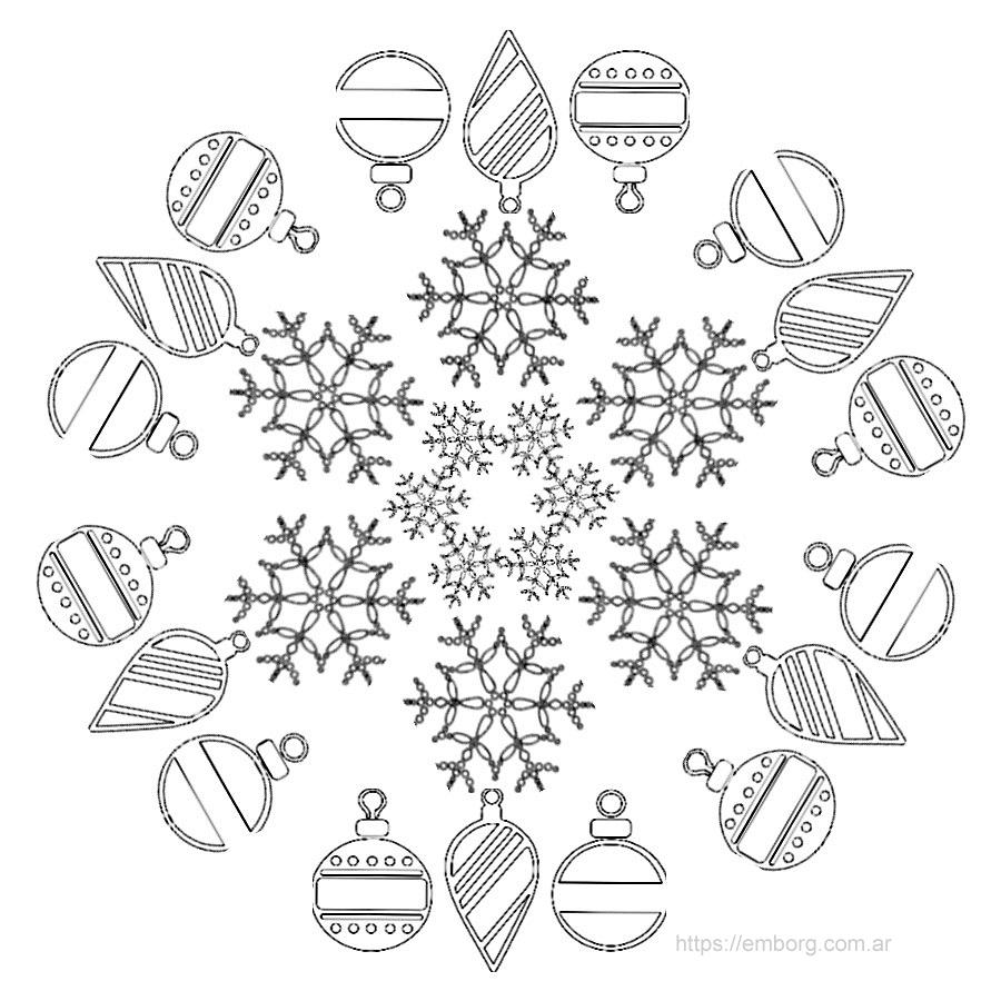 7 mandalas de navidad para colorear celina emborg - Imagenes para imprimir de navidad gratis ...