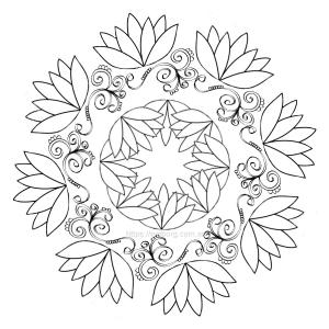 flor de loto para imprimir