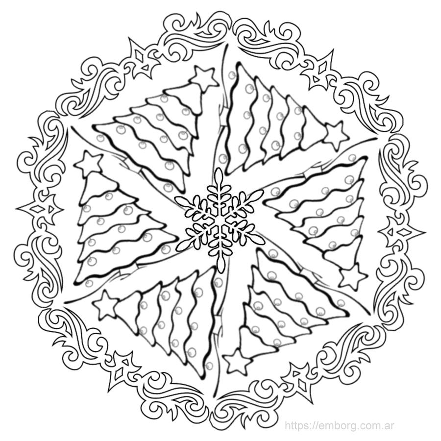 7 Mandalas de Navidad para colorear - Celina Emborg