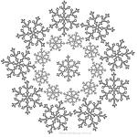 7 Mandalas de Navidad para colorear