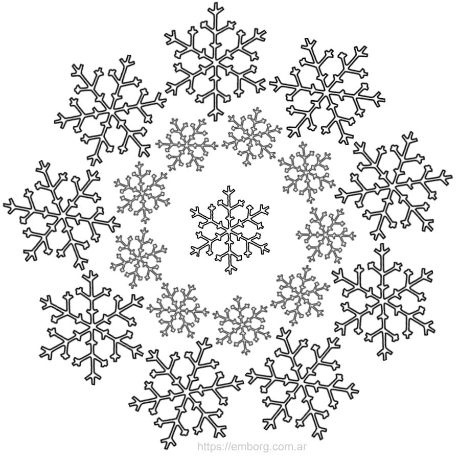 7 mandalas de navidad para colorear celina emborg - Figuras de navidad para pintar ...