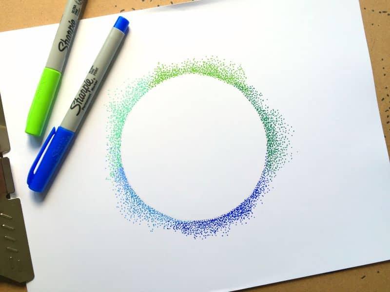 Puntillismo y creación de formas