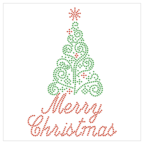 Técnica del puntillismo en tarjetas de navidad